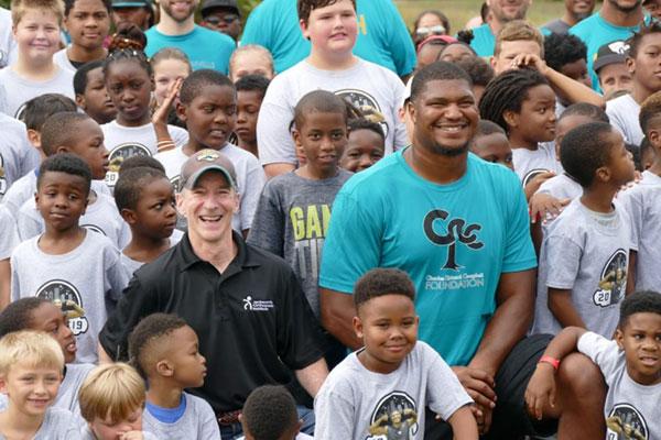 Dr. Bruce Steinberg and Jacksonville Jaguar Calais Campbell